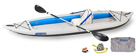Sea Eagle 385FT FastTrack Deluxe Solo Inflatable Kayak 12'6″