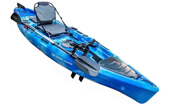 Fishing pedal kayak for anglers 11'