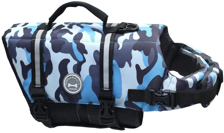 Vivaglory Reflective Dog Life Jacket, Ripstop & Adjustable