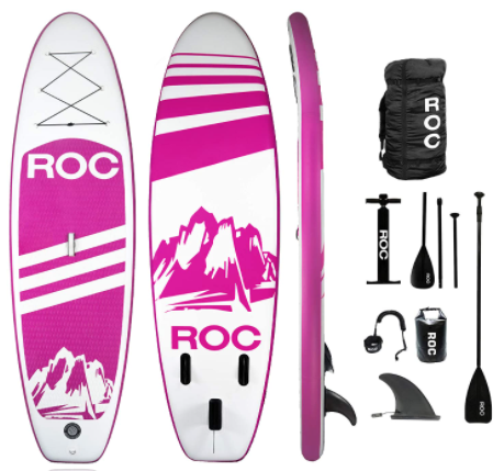 Roc Inflatable Stand Up Paddle Board with Premium sup