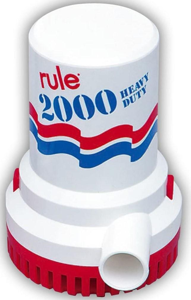 Rule Bilge Pumps, 2000 GPH Non-Automatic